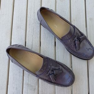 Cole Haan patent leather loafers w Tassels